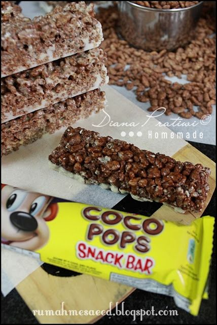 Chocolate Rice Krispies Bars Homemade Almost The Same With Coco Pop