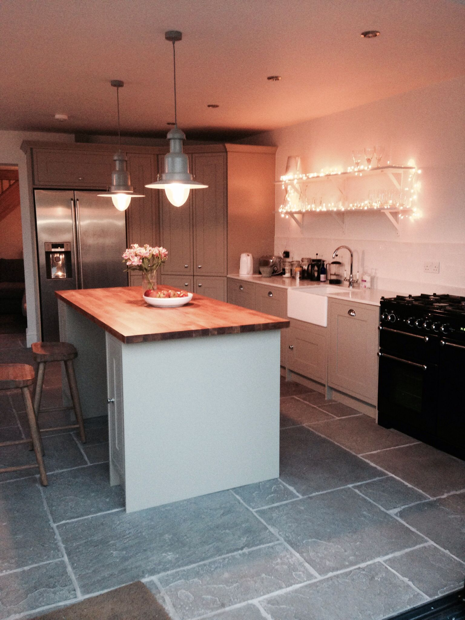 Kitchen wickes finished at last - heritage grey | Grey kitchen ...