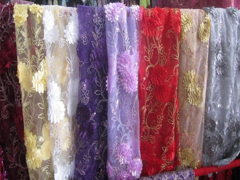 Lace fabric Good quanlity net cloth Dribbling embroidered/wedding ...