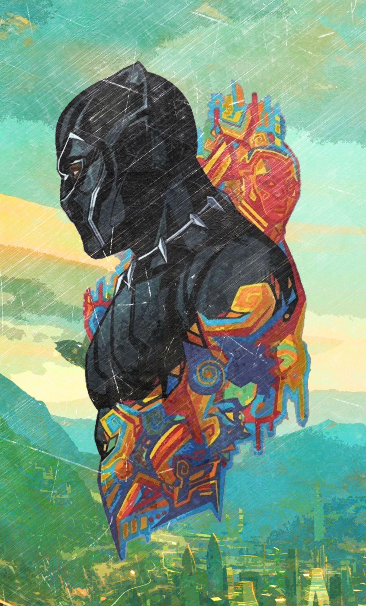 1280x2120 Black Panther Promo Art Iphone 6 Hd 4k Wallpapers Black Panther Marvel Black Panther Superhero Superhero Wallpaper