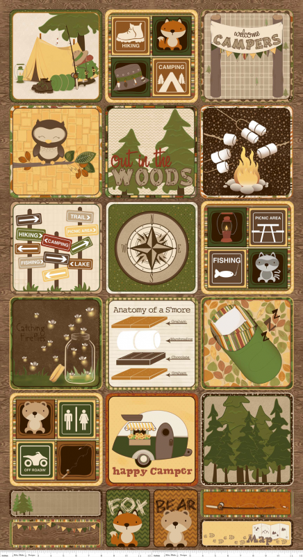 Camp A Lot Flannels Camping Fabric Camper Quilt Camping Quilt