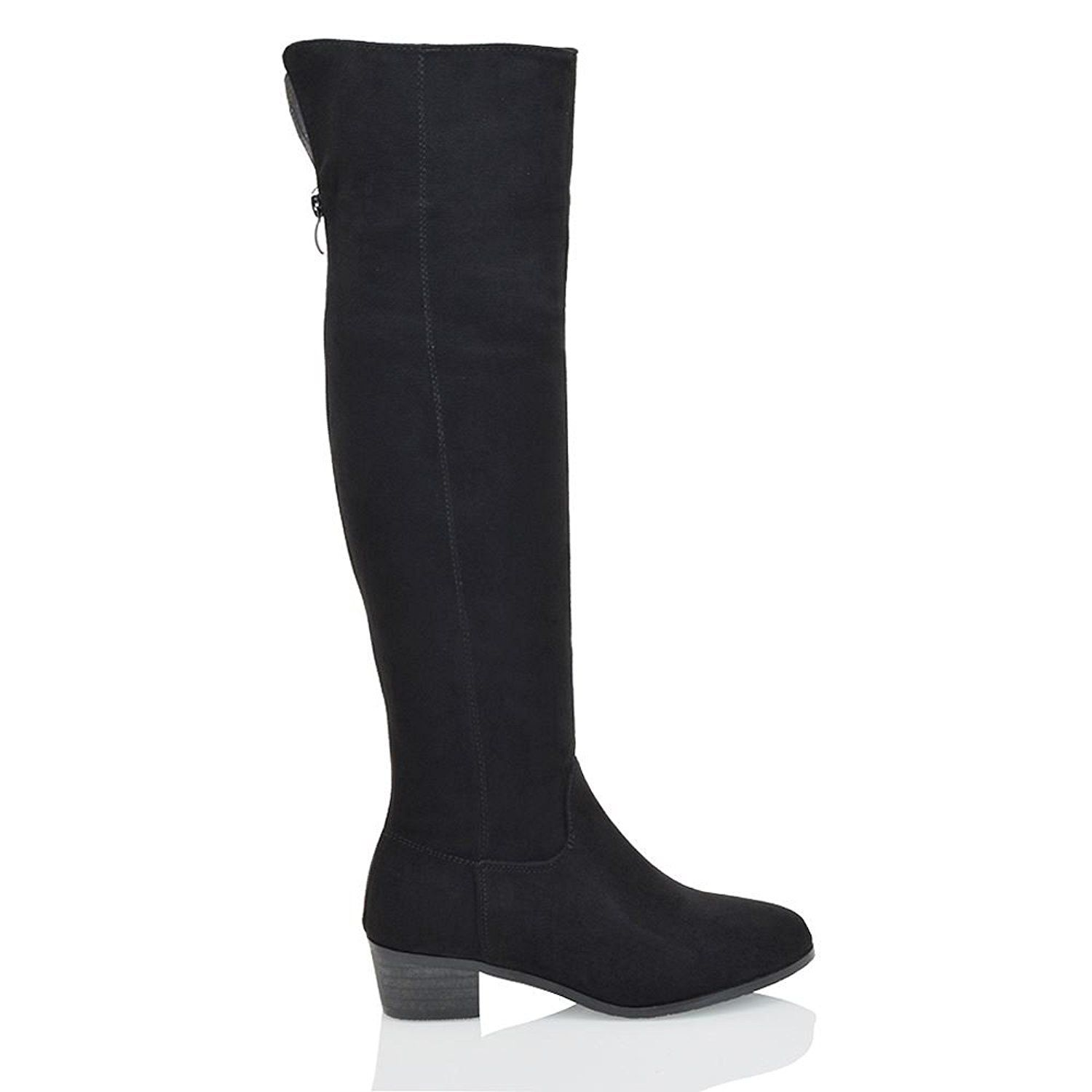 708fa180c27 Essex Glam Womens Knee High Faux Suede Biker Boots >>> This is an ...