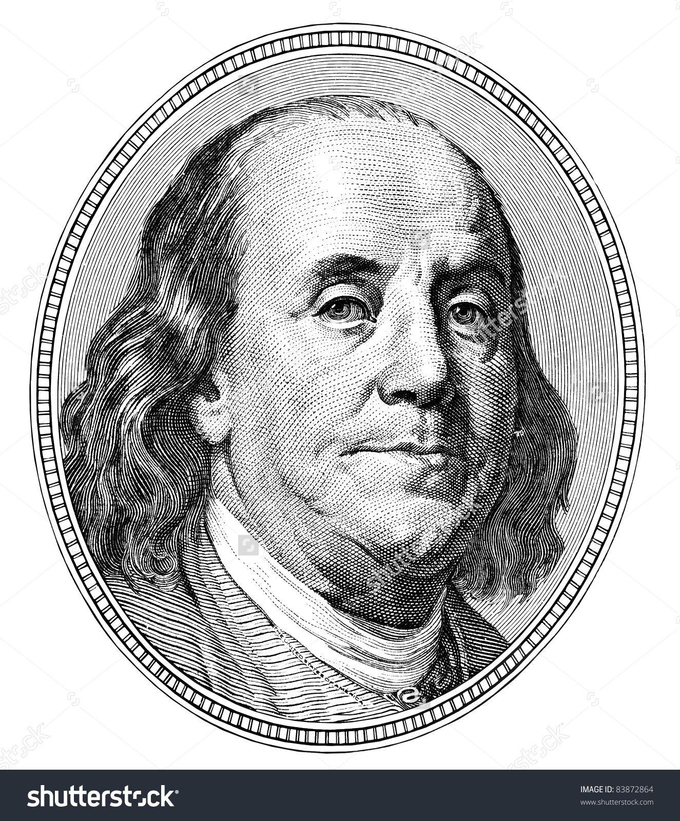 Stock Photo Benjamin Franklin Qualitative Portrait From