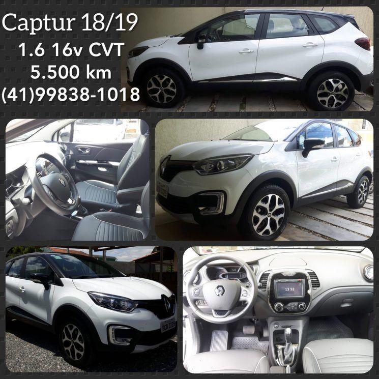 Renault Captur Branca 2018 2019 1 6 16v Cvt Pilotos Carros