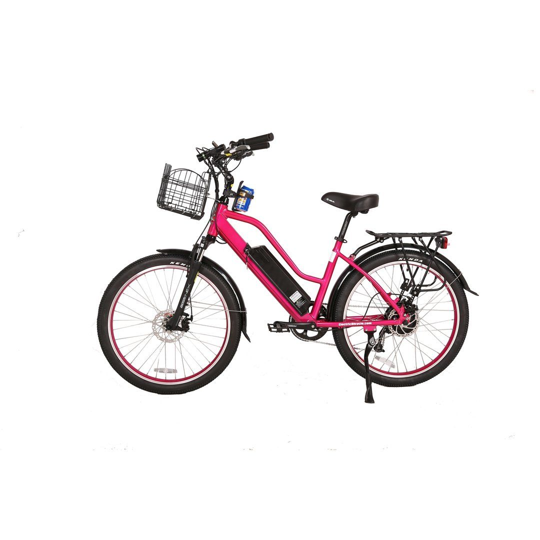 Big Cat Catalina Beach Cruiser 500w Thin Tire Eta 8 10 In 2020 Beach Cruiser Beach Cruiser Electric Bike Electric Bike