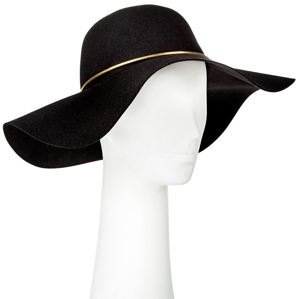 62540bd8f1d Women s Floppy Hat with Gold Trim Black - Mossimo Supply Co ...