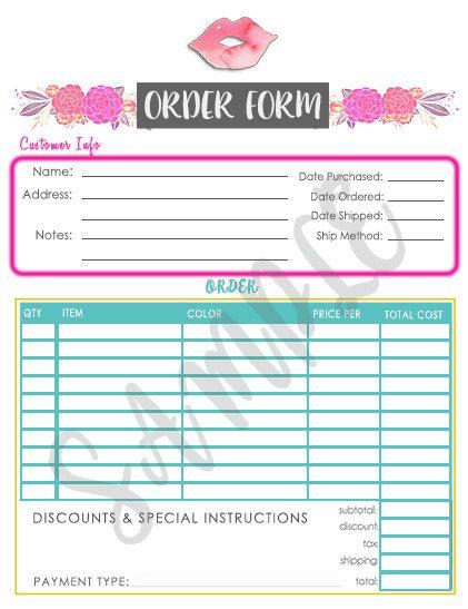 Lipsense Order Form Lipsense Game Order Form Cake Order Forms