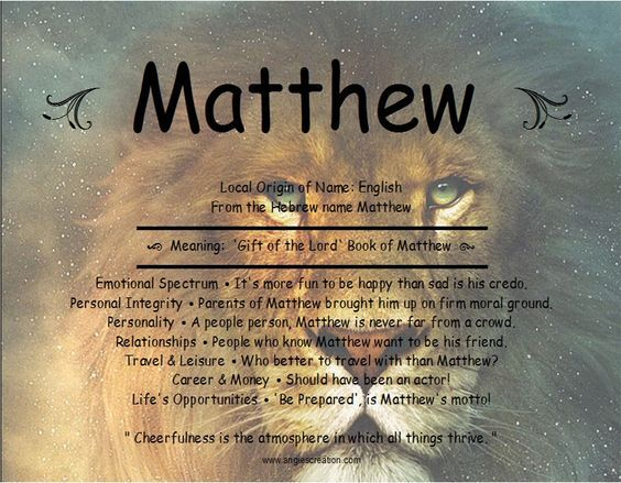 matthew | Names with meaning Emotional infidelity Names