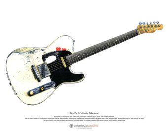 Jimi Hendrix's Guitars ART POSTER A3 size