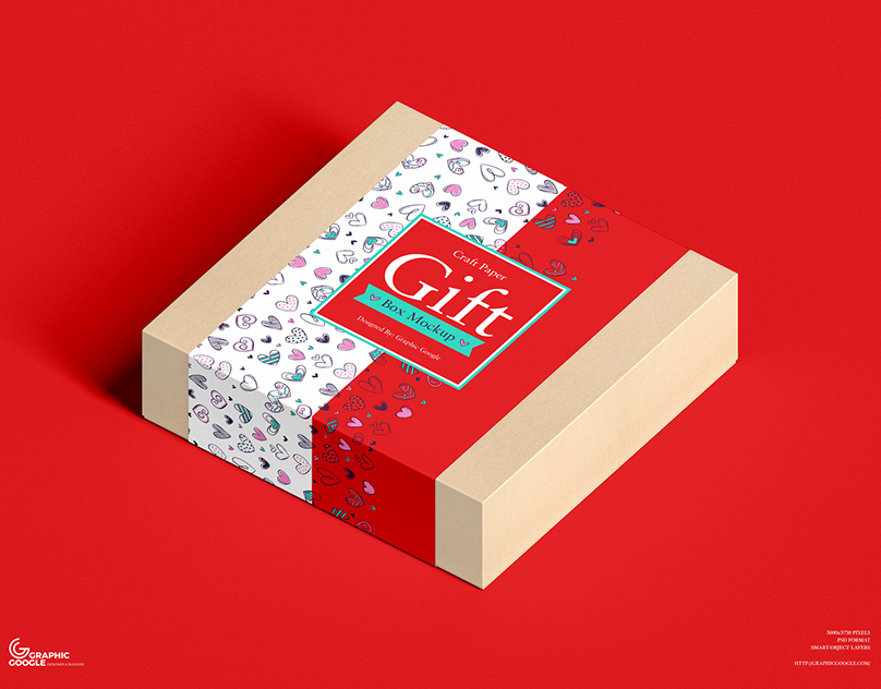 Download Free Craft Paper Gift Box Mockup On Behance