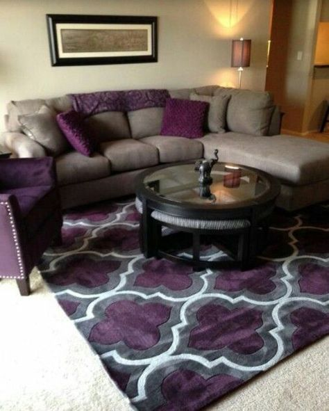 Image Result For Purple Black And Grey Living Room Ideas Purple