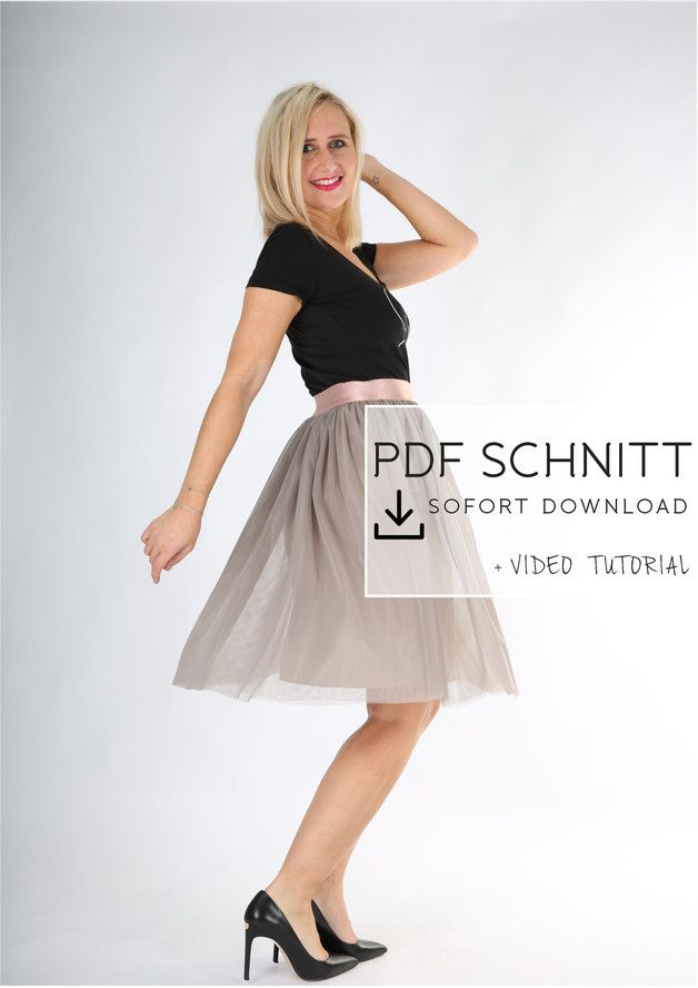 Tüllrock selber nähen - PDF SCHNITT zum Downloaden! Dir gefällt ...