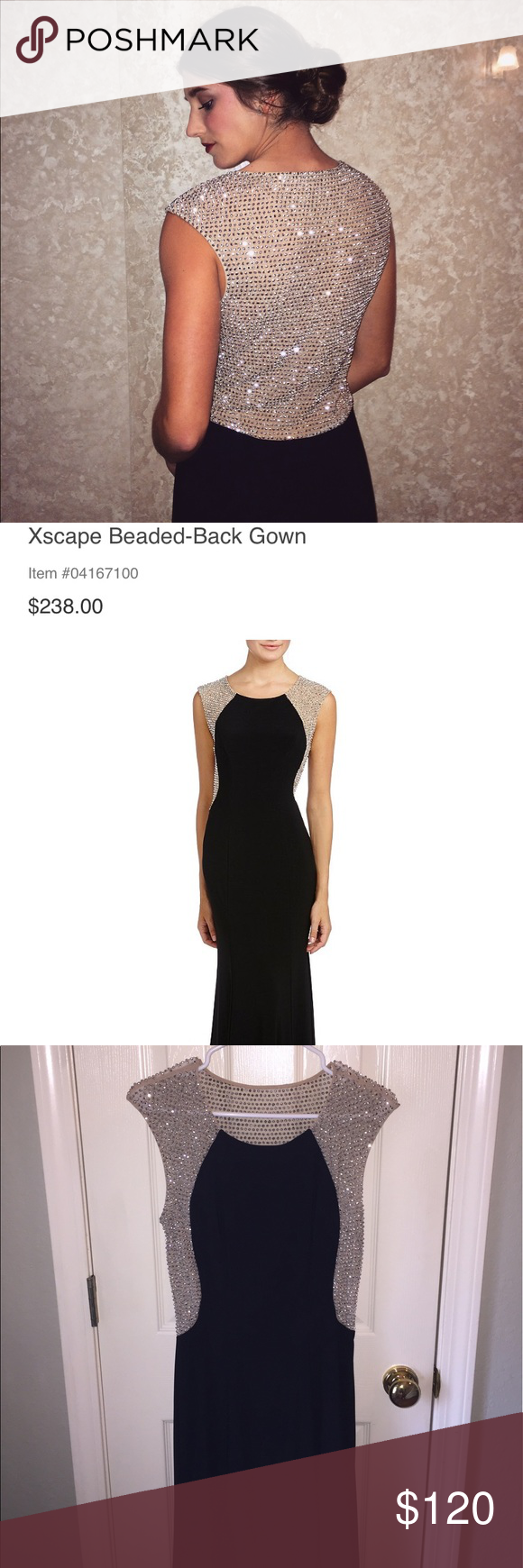 Xscape black beaded gown xscape dresses dress prom and gowns