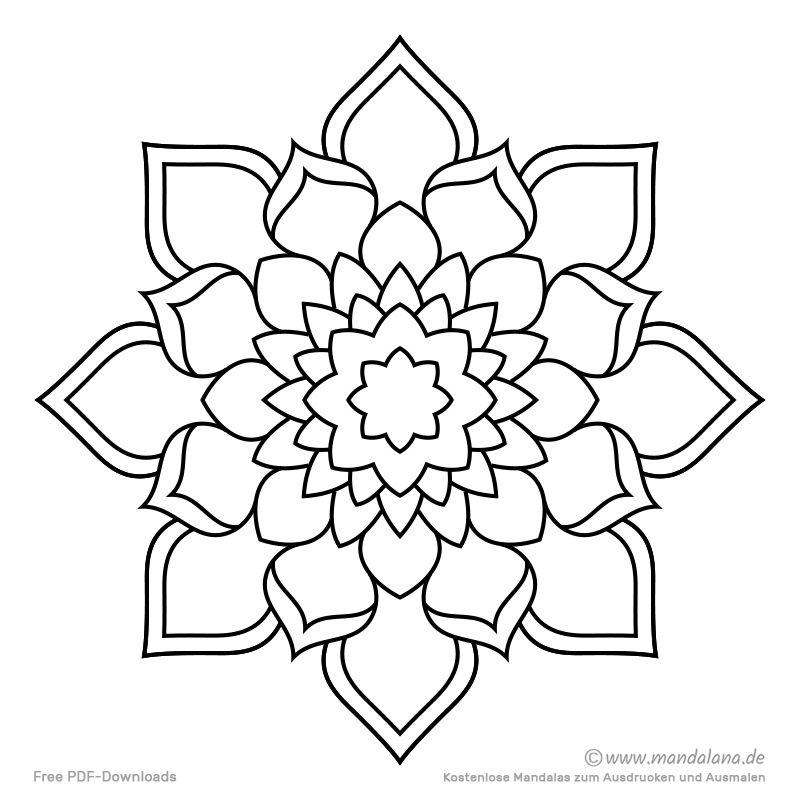 Mandala Malvorlagen - Einfache Formen zum Ausmalen