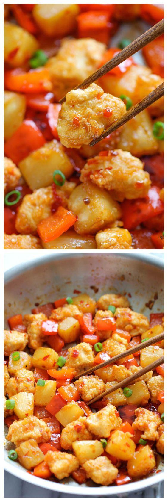 Panda Express Sweet Fire Chicken Copycat | Recipe | Asian ...