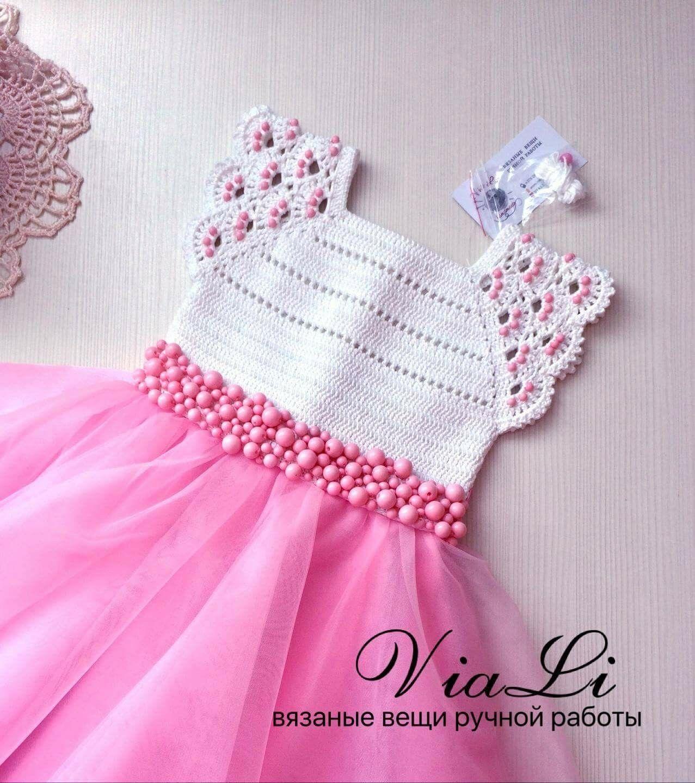 Pin de Patricia Gamboa en Vestidos de niña tejidos | Pinterest ...