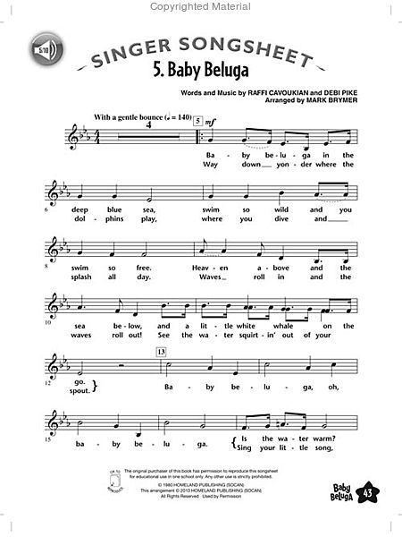 Baby Beluga | The Music in Me | Pinterest | Sheet music
