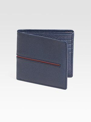 Tod's  Strip Leather Wallet