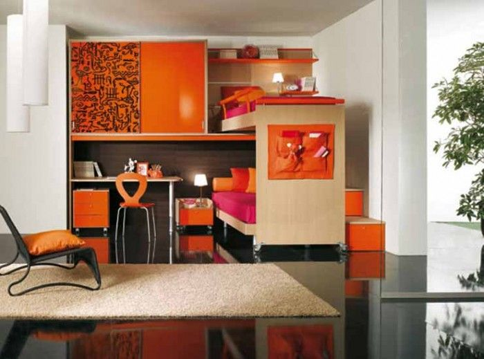 Children's Loft Bedroom Decorating Ideas Orange Minimalist Custom Loft Bedroom Design Ideas Minimalist