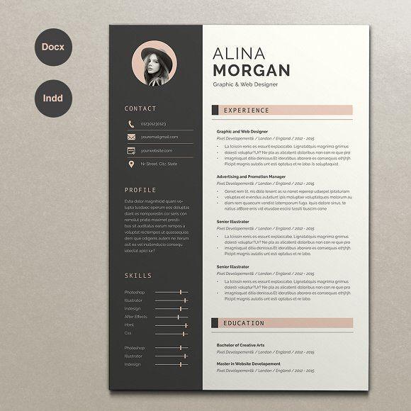Pin Von Incredible Sara Am Auf Graphic Design Lebenslauf Design Vorlagen Lebenslauf Kreativer Lebenslauf