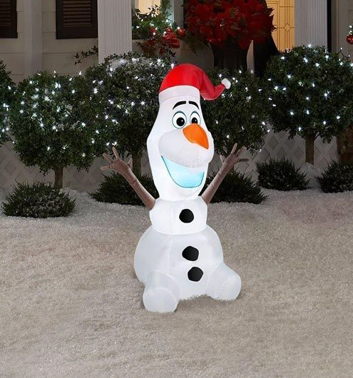 olaf 6 foot yard decoration olaf is ready to sit in your yard and greet everyone that passes by with this olaf 6 foot yard decoration olaf christmas