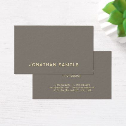 Trendy elegant color gold font simple plain luxury business card trendy elegant color gold font simple plain luxury business card minimalist office gifts personalize office reheart Images
