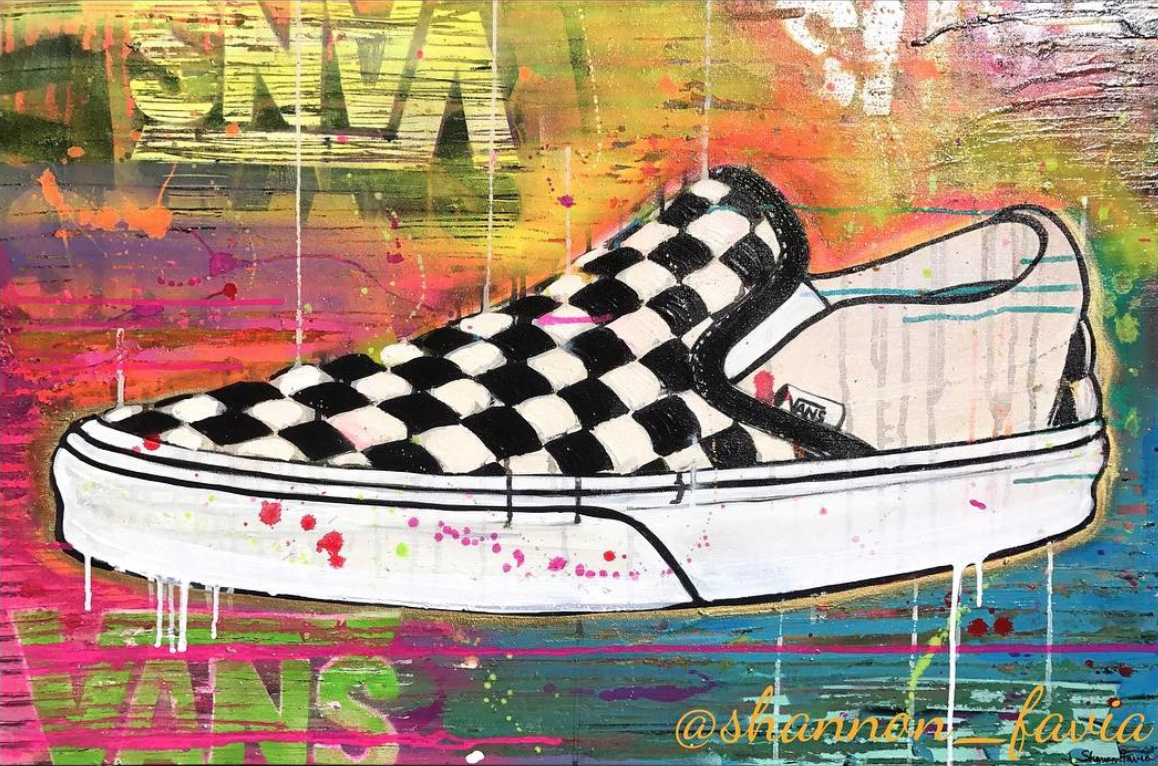 Image result for vans outline | Sneaker art, Shoe art
