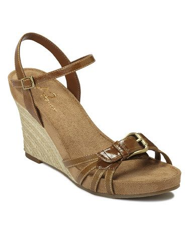 1cad0319fee5 Take a look at this Brown Sage Plush Wedge Sandal by A2 by Aerosoles on  zulily  today!