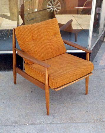 Baumritter Walnut Chair 150 In Denver Walnut Chair