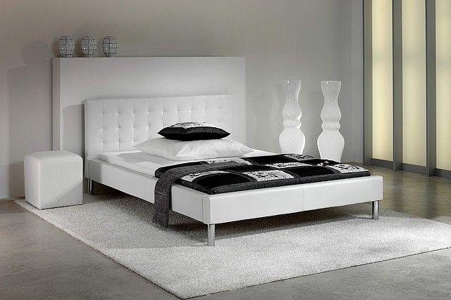BED Jon Łóżko ekoskóra biała 100 140 160 180 sypialnia Pinterest - schlafzimmer billig kaufen