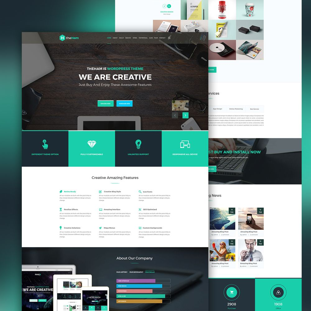 p>Download Creative Landing Page Template Free PSD. This is a ...