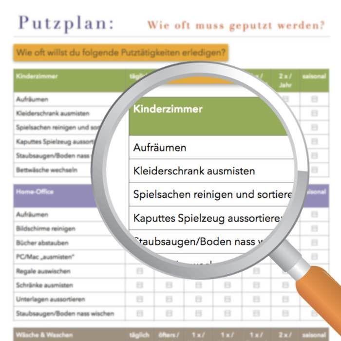 Putzplan-Vorlage zum Download.   Pläne   Pinterest