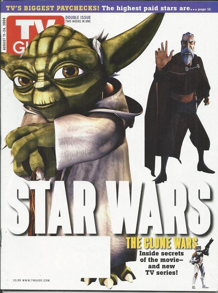 TV Guide magazine Star Wars Yoda The Clone Wars Jeffrey