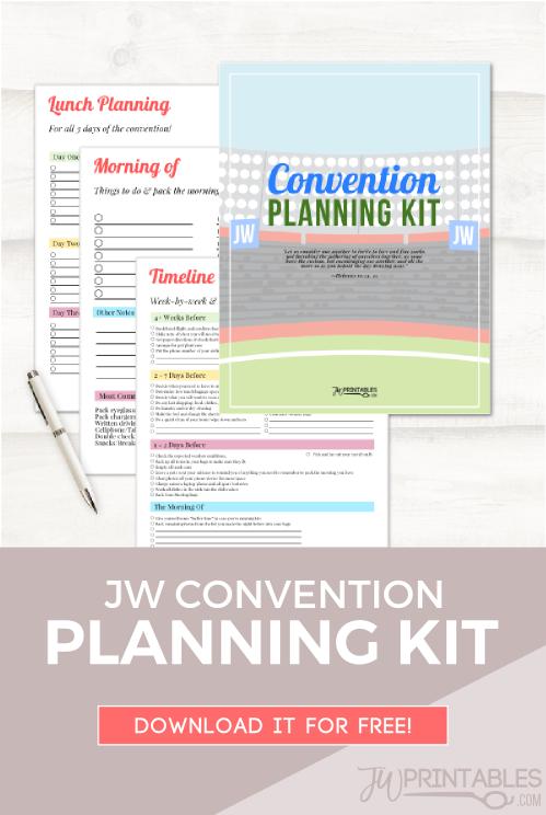 JW Convention Planning Kit   Jw   Jw convention, Jw printables