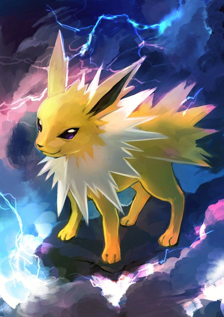 Jolteon Pokemon Cute Pokemon Wallpaper Pokemon Pokemon Drawings