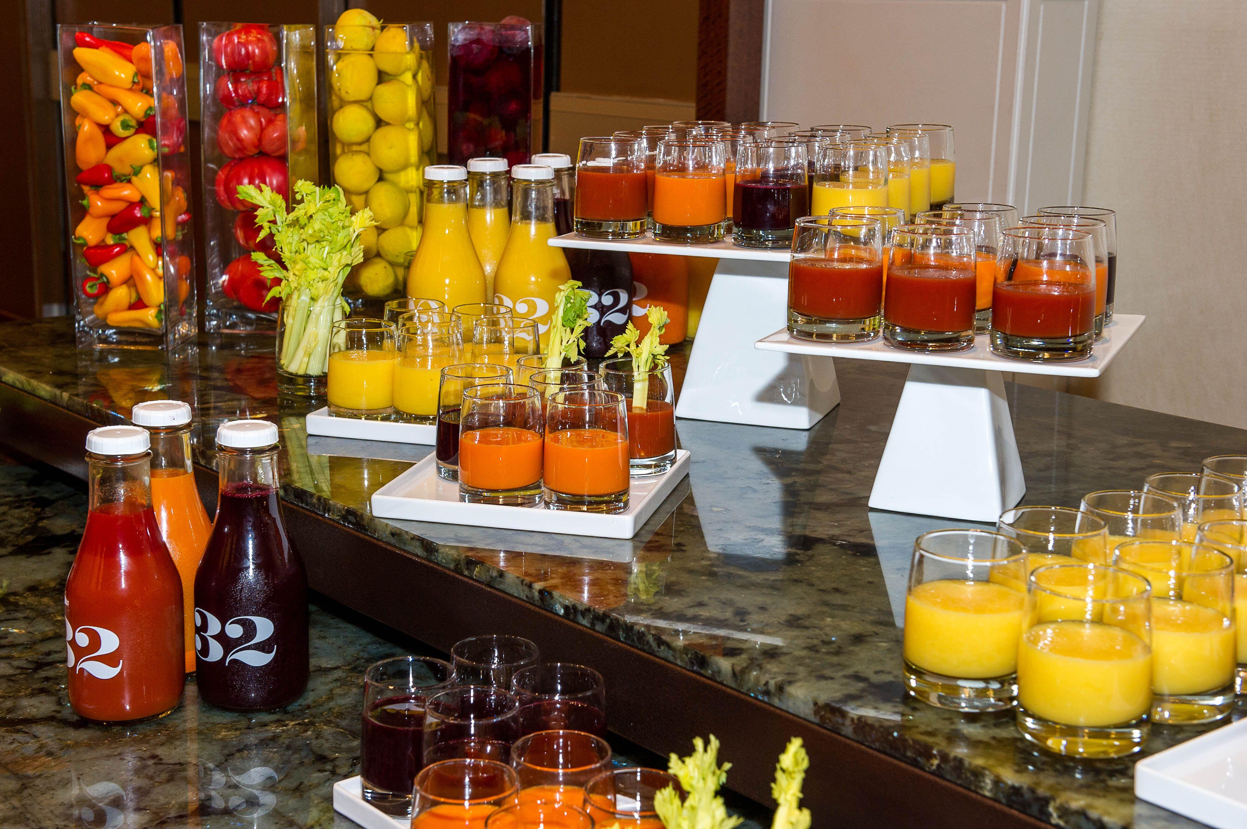 Meeting Juice Break at Hyatt Regency Atlanta Buffet