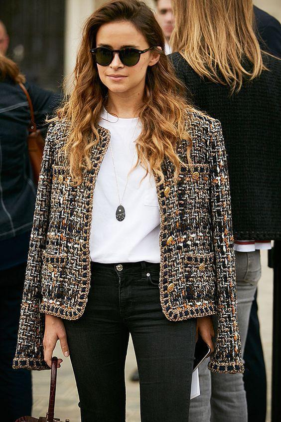 a10cf24458c2c8 giacca chanel come abbinarla | Outfit Primavera/Estate nel 2019 ...
