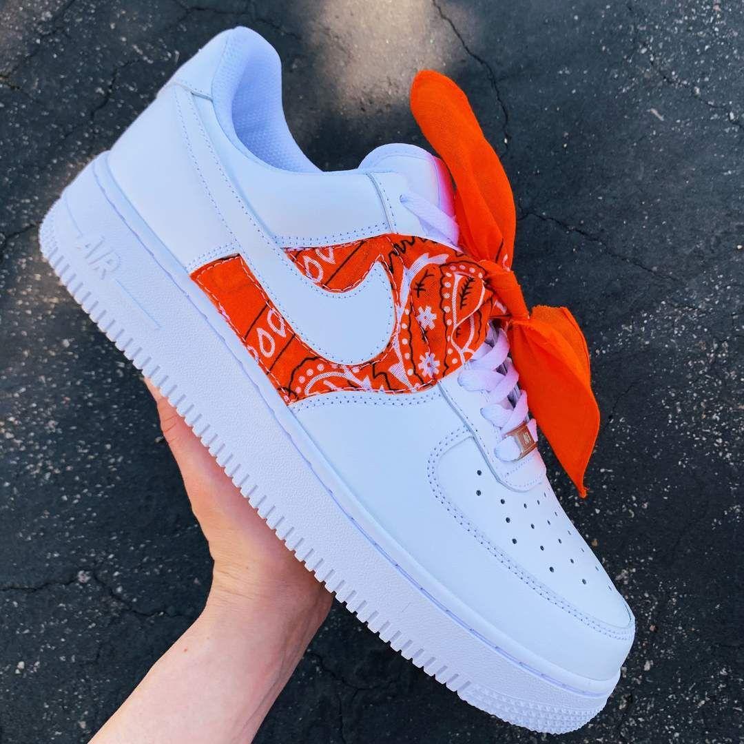 Orange Bandana AF1 | Nike shoes air