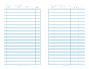 Home Management  Free Printables  Check Register Free Printable