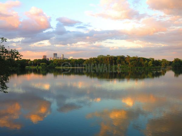 Minneapolis Sunset at Lake of the Isles by Heidi Hermes