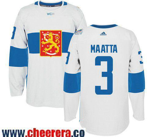 pretty nice 1d6aa f542d team finland 3 olli maatta white 2016 world cup stitched nhl ...