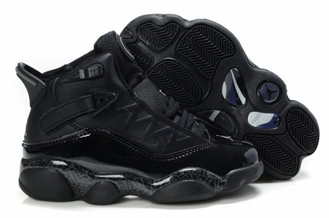 official photos ef5d8 0d0fc Air Jordan 6 Rings Retro Black Kids s