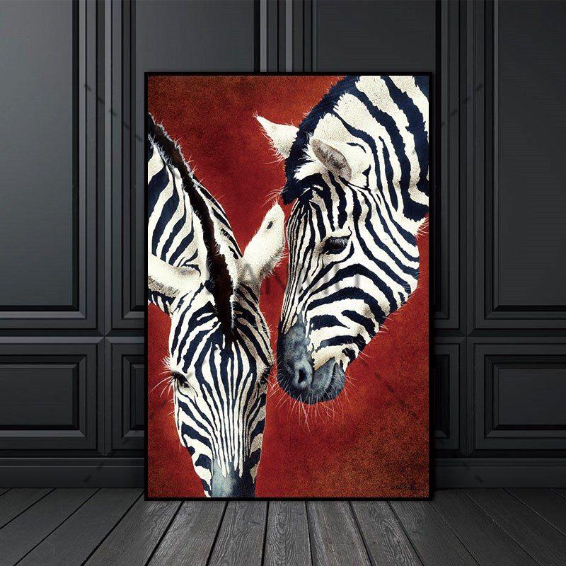 Leinwand Malerei Druck Zebra Tier Nordic Abstrakte Wand Bilder Für Wohnzimmer  Kunst Dekoration Bilder Skandinavischen Keine