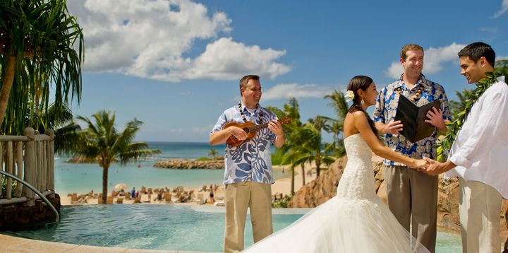 Walk Down The Aisle To A Ukulele In Hawaii Aulani Disney Resort On Oahu