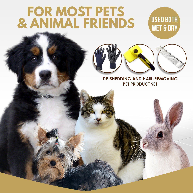 Pet Grooming Set Self Cleaning Slicker Brush Pet Comb And 1 Pair