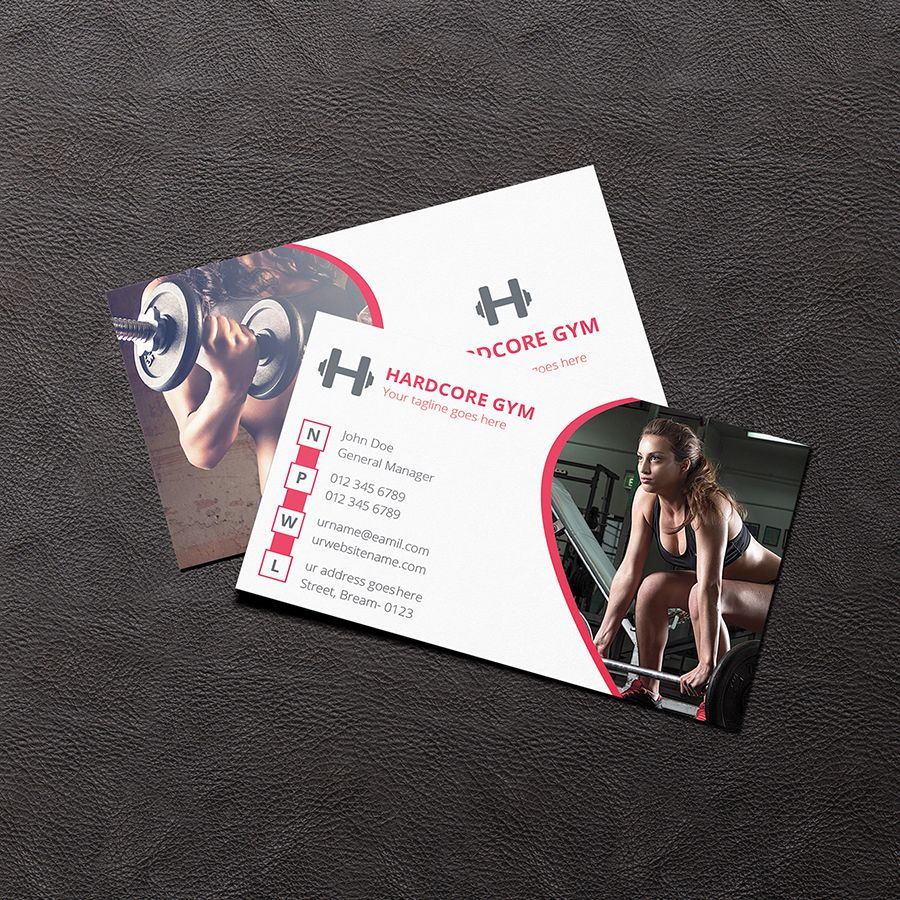 "Check out my Behance project ""Gym business card"" https"