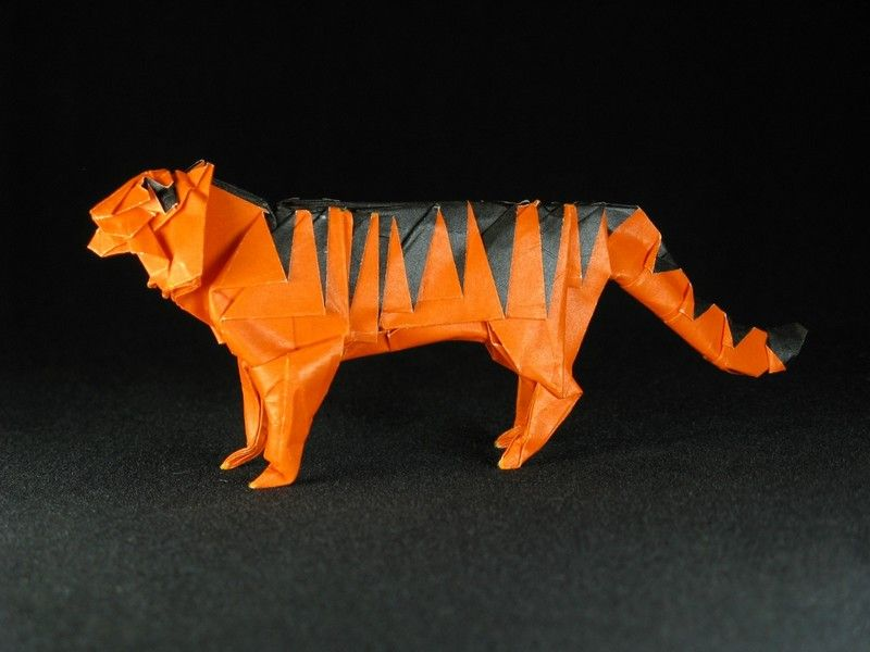 How To Make A Paper Tiger - ORIGAMI PAPER TIGER - YouTube | 600x800