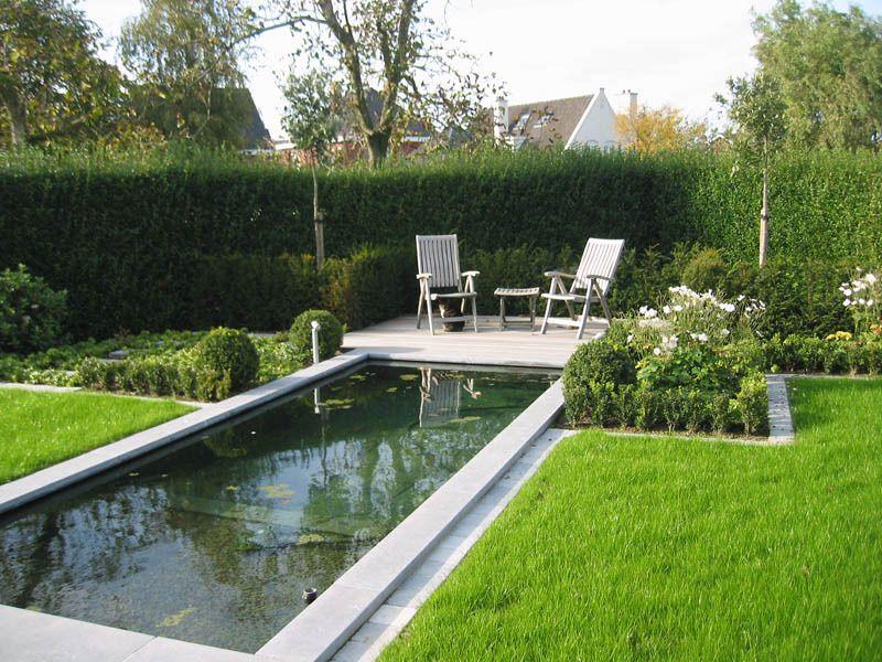 Werktekening zwemvijver 1 tuin t vijver zwemvijvers en for Rechthoekige vijver aanleggen vijverfolie