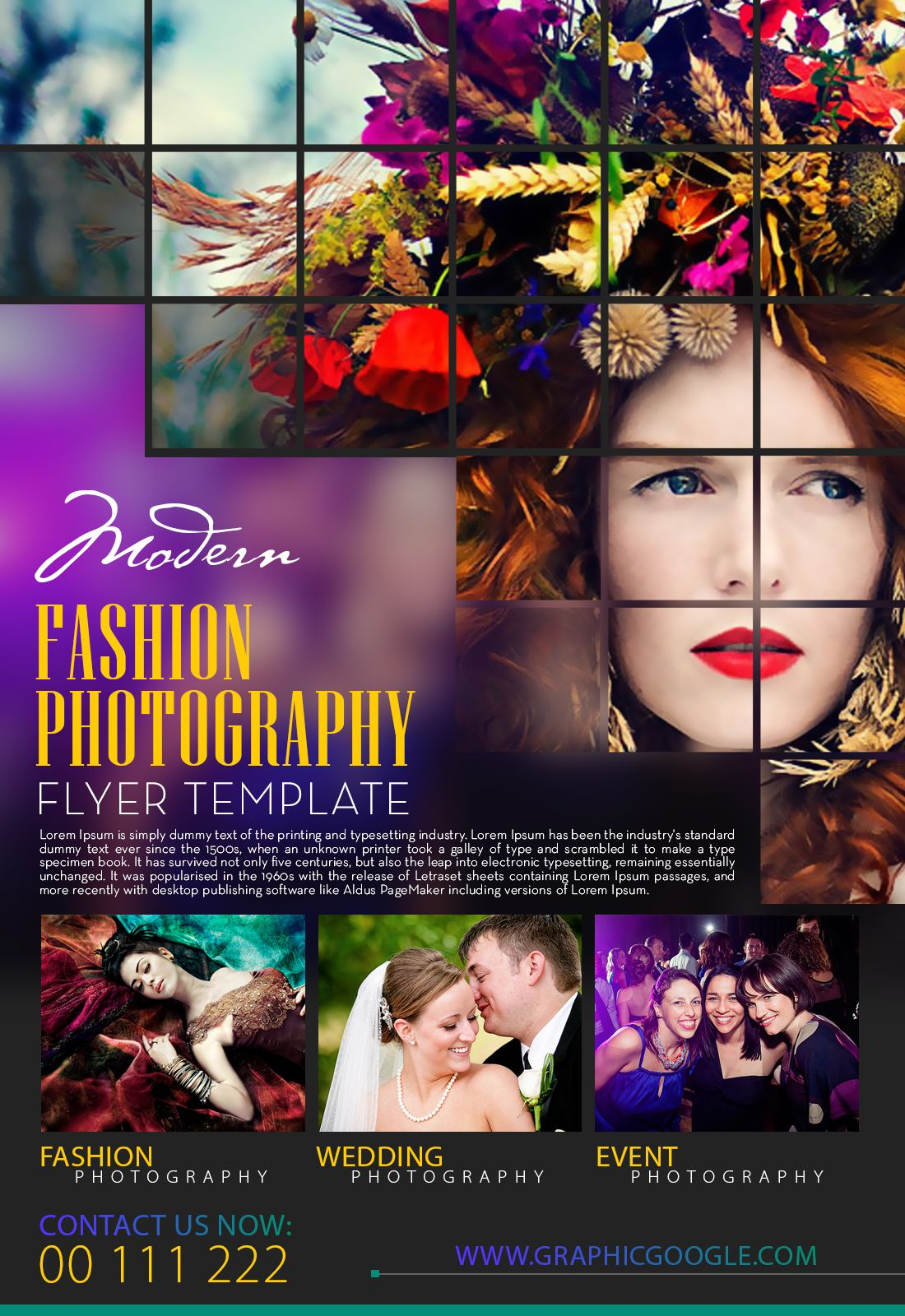 Free Modern Fashion Photography Flyer Template