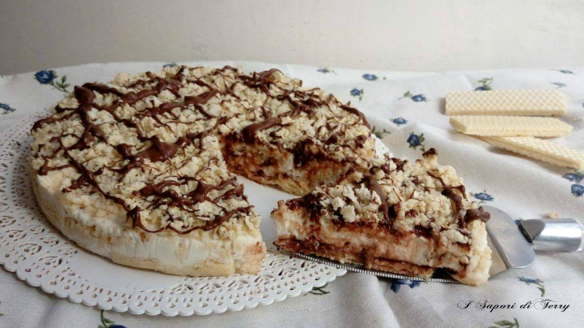Photo of Torta fredda con wafer e nutella senza panna e cottura